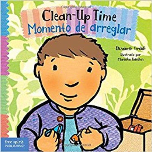 Toddlers will look forward to clean-up time with this simple bilingual English- Spanish board book that encourages them to chant along as they tidy up. Young children learn to work together to put items in their place, make a neater space, keep a smile on their face--and make room for more fun.