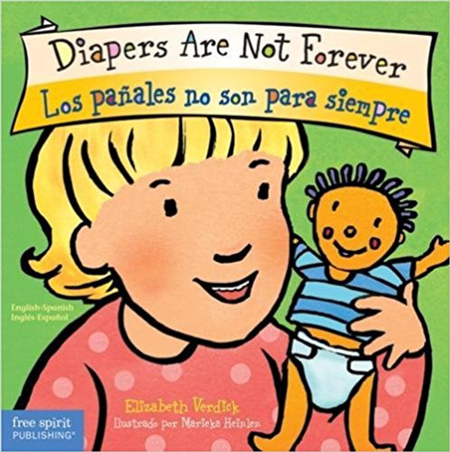 Potty training for kids takes patience and practice, and this charming, straightforward book helps pave the way. With Diapers Are Not Forever/Los pañales no son para siempre, young children learn in both English and Spanish how to use the potty and why it's time to do so, while gaining the courage and confidence to face this important milestone in their lives. When little ones learn to do what the big kids do (go, wipe, flush, wash their hands), they won't need a diaper anymore—they'll have underwear under there! The book includes tips for parents and caregivers from a children's health specialist.