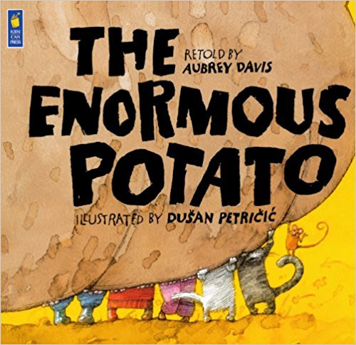 Davis uses a potato instead of the traditional turnip in this retelling of a familiar folktale.  When the eye of a potato grows into the biggest potato in the world, a farmer must call for reinforcements to pull the vegetable out of the ground.
