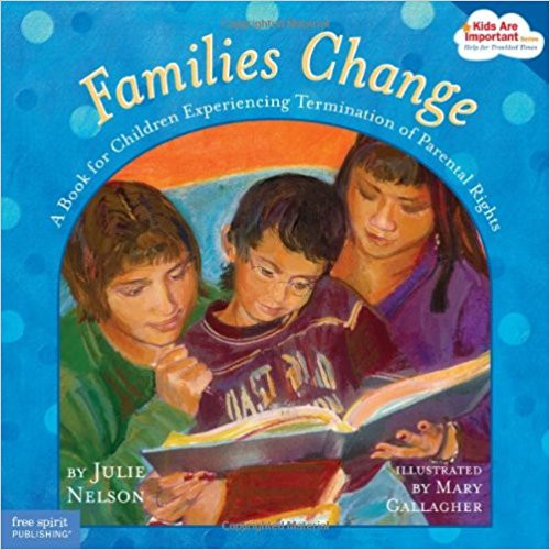 All families change over time. Sometimes a baby is born, or a grown-up gets married. And sometimes a child gets a new foster parent or a new adopted mom or dad. Children need to know that when this happens, it's not their fault. They need to understand that they can remember and value their birth family and love their new family, too. Straightforward words and full-color illustrations offer hope, support, and coping skills for children facing or experiencing change. Includes resources and information for birth parents, foster parents, social workers, counselors, and teachers.