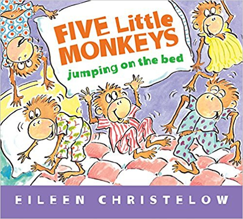 Five Little Monkeys Jumping on the Bed by Eileen Christelow (Hard Cover)
