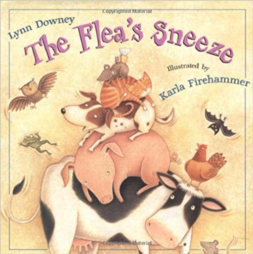 A flea with a cold startles all the animals in the barn when it sneezes unexpectedly.