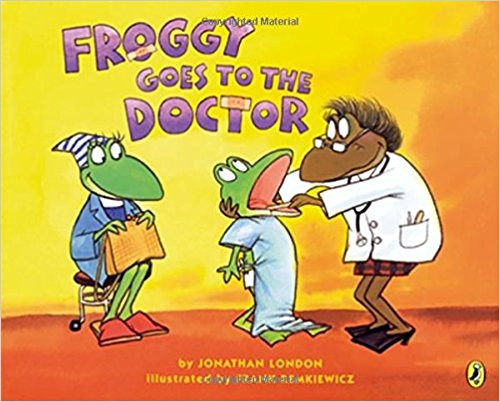 "The ""New York Times"" bestselling frog is heading to the doctor for a checkup, and he's feeling a little nervous. He worries as he dresses and can't sit still in the waiting room. Finally, it's time to go in--but Froggy realizes he's forgotten something."