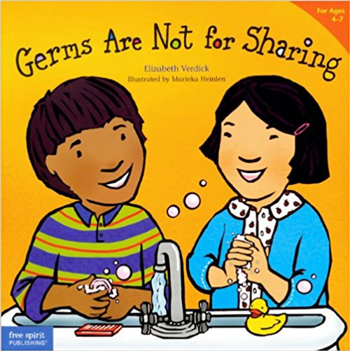 Achoo! Cough! F-L-U-S-H! What to do? In childcare, in preschool, at home, and everywhere, kids and germs go hand in hand. Toddlers need to learn that germs are not for sharing. Rather than focus on what germs are, this book teaches the basics of not spreading them: Cover up a sneeze or cough. Hug or blow kisses when you're sick. And most of all, wash your hands! Child-friendly words and full-color illustrations help little ones stay clean and healthy. Includes tips and ideas for parents and caregivers.
