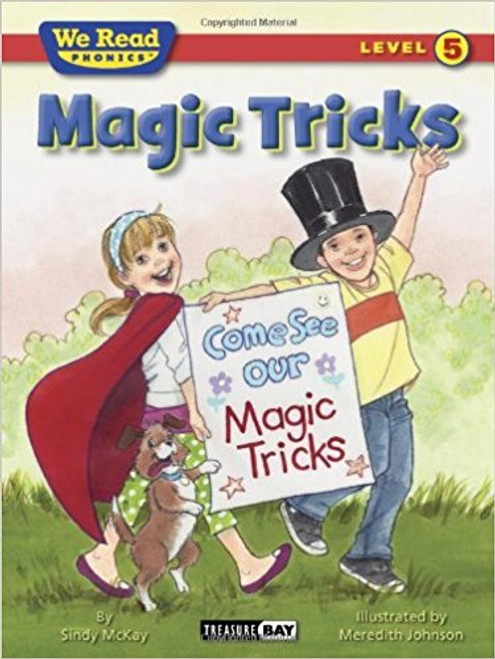 Magic tricks includes two tricks you can do! You can even put on a show for your friends. Just look inside and try it! Maybe your mom or dad can help. Do the tricks until they are easy. Just have fun!