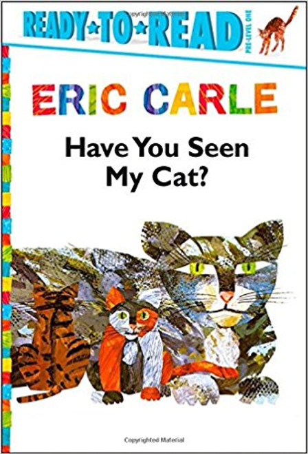 """A little boy's cat is missing, and he embarks on a fantastic round-the-world quest to find his lost pet. Along the way, he meets lots of interesting people and sees many beautiful members of the cat family, including lions and tigers and panthers. But over and over again he has to say """"This is not my cat!"""" until at last he finds the cat he's looking for -- who has a delightful surprise for him.  Eric Carle's simple, repetitive text and distinctive cut-paper illustrations make this modern classic a book to treasure."""