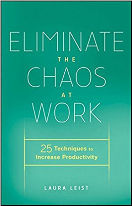 At long last, you can take control of your workday. Eliminate the Chaos at Work guides you through twenty-five techniques to increase your productivity. You don't need to read the entire book to understand a methodology; simply turn to the sections or chapters you need help with, read, and put the methods into practice immediately. By creating and implementing organized systems and changing certain habits and behaviors, you will free yourself from time-wasting activities and burdensome distractions.