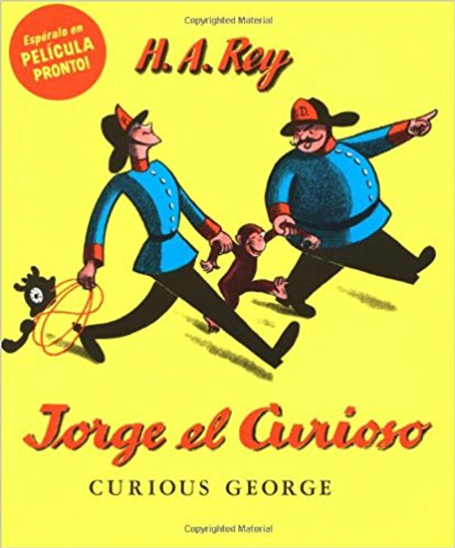 In this, the original book about the curious monkey, George is taken from the jungle by the man in the yellow hat.