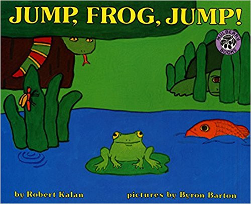 """This is the turtle that slid into the pond and ate the snake that dropped from a branch and swallowed the fish that swam after the frog - JUMP, FROG, JUMP!"""" This infectious cumulative tale will soon have the young frogs you know jumping and chanting with joy."""