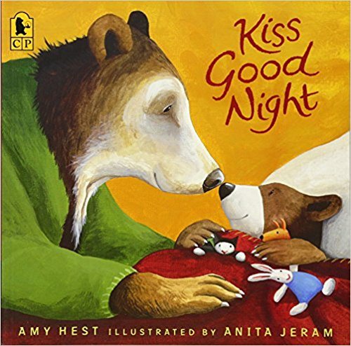 """""""It was a dark and stormy night on Plum Street.  In the little white house, Mrs. Bear was putting Sam to bed.""""  Outside, the wind blows and the rain comes down.  Inside, it is Sam's bedtime.  Mrs. Bear reads him a story, tucks him in, and brings him warm milk.  """"Are you ready now, Sam?"""" she asks.  """"I'm waiting,"""" he says. What else does Sam need before going to sleep? Could Mrs. Bear have forgotten a kiss?"""