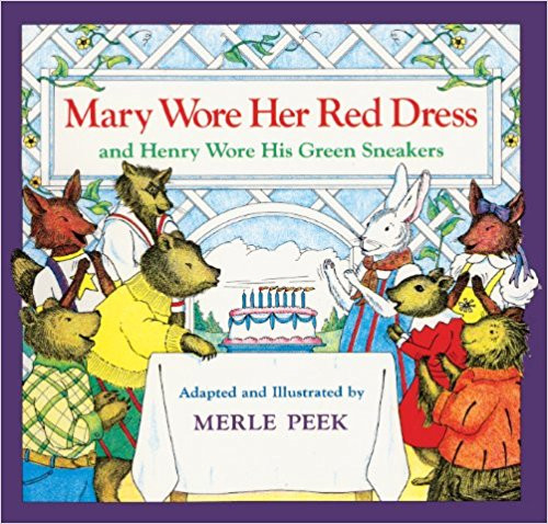On Katy's birthday, all of her animal friends come to the party dressed in clothes of different colors.