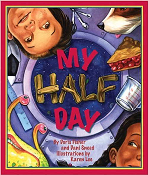 """The wacky fun continues as the boy from One Odd Day and My Even Day awakens to find a half-head of hair.  After chugging down his glass of milk that is two-thirds gooey paste, he and his friend are off to camp for a day of fraction fun and an out-of-this-world soccer game.  Includes """"For Creative Minds"""" section."""