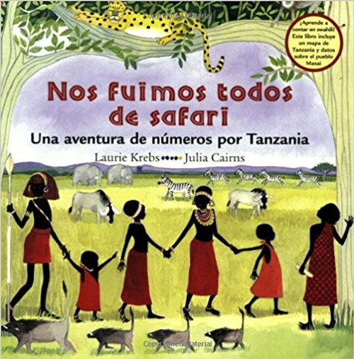 The Spanish-language edition of We All Went on Safari Join Arusha, Mosi, Tumpe and their Maasai friends as they set out on a counting journey through the grasslands of Tanzania. Along the way, the children encounter all sorts of animals including elephants, lions and monkeys, while counting from one to ten in both English and Swahili. The lively, rhyming text is accompanied by an illustrated guide to counting in Swahili, a map, notes about each of the animals, and interesting facts about Tanzania and the Maasai people.