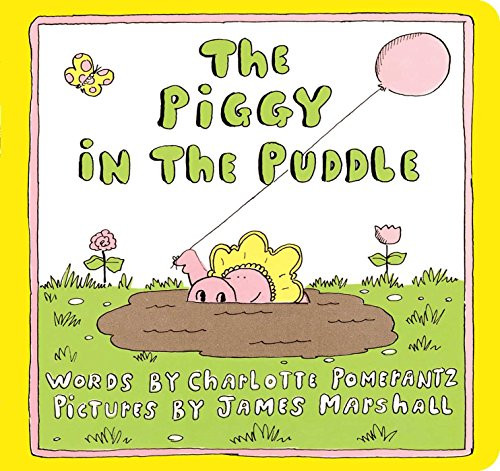 Unable to persuade a young pig from frolicking in the mud, her family finally joins her for a mud party.