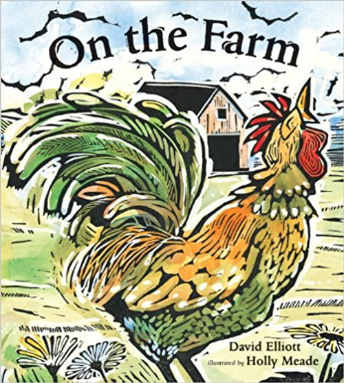 Verse and woodcut with watercolor illustrations evoke the world of the family farm.