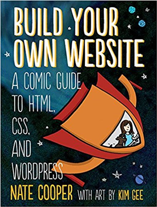 """Build Your Own Website"" is a fun, illustrated introduction to the basics of creating a website. Join Kim and her little dog Tofu as she learns HTML, the language of web pages, and CSS, the language used to style web pages, from the Web Guru and Glinda, the Good Witch of CSS. Once she figures out the basics, Kim travels to WordPress City to build her first website, with Wendy, the WordPress Maven, at her side. They take control of WordPressA A(r) themes, install useful plugins, and more. As you follow along, you'll learn how to: Use HTML tags Make your site shine with CSSCustomize WordPress to fit your needs Choose a company to host your site and get advice on picking a good domain name The patient, step-by-step advice you'll find in ""Build Your Own Website"" will help you get your website up and running in no time. Stop dreaming of your perfect website and start making it!"""