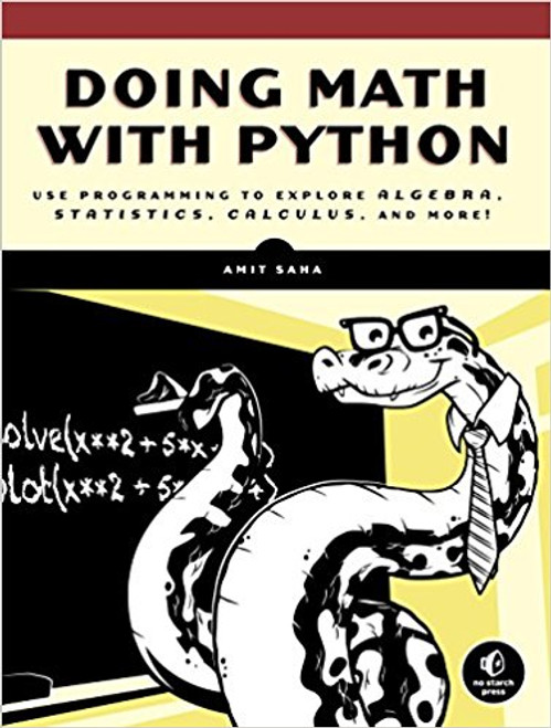 Uses the Python programming language as a tool to explore high school level mathematics like statistics, geometry, probability, and calculus by writing programs to find derivatives, solve equations graphically, manipulate algebraic expressions, and examine projectile motion. Covers programming concepts including using functions, handling user input, and reading and manipulating data