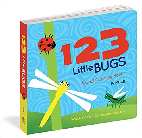 From caterpillars to honeybees, this board book introduces toddlers to a lineup of charming bugs while making basic numbers fun to learn. Parents and tots can count to 10 together using bugs depicted with vivid colors and a bold design. Full color.