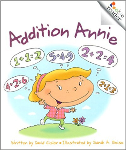 Addition Annie counts everything around her, from trees and knees to little peas.