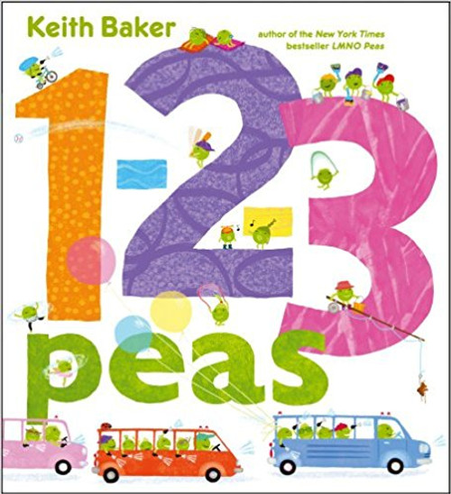 Busy little peas engage in their favorite activities as they introduce the numbers from one to 100. Full color.