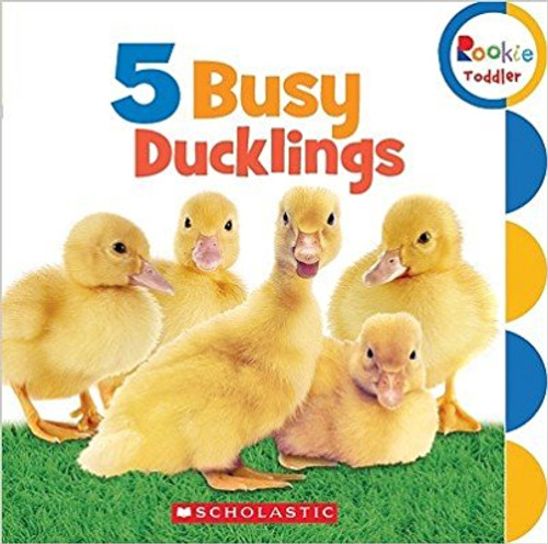 Five busy ducklings are on the go in this first counting book