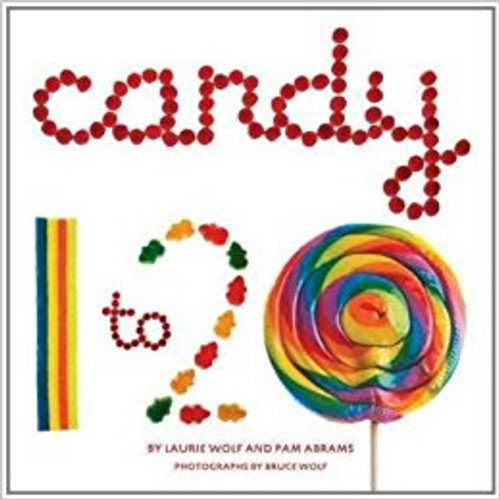 Make counting delicious! Each number in this yummy book is made of the corresponding number of candies: 1 candy stick 2 sour roll-ups 3 licorice whip