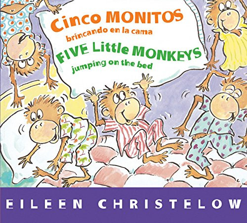 As soon as they say good night to Mama, the five little monkeys start to jump on their bed. But trouble lies ahead as, one by one, they fall off and hurt themselves. Now in a sturdy board book format for Spanish- and English-speaking readers