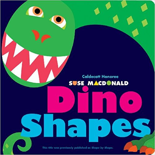 Introduces young readers to shapes, using die-cut pages to gradually reveal the parts of a very large creature that lived a long time ago..