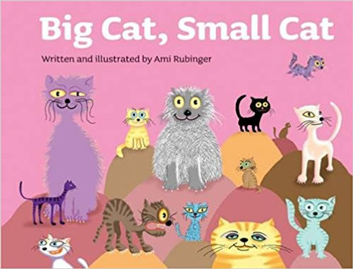 Illustrations of cats along with rhyming couplets about them require the reader to fill in words demonstrating opposites, like tall and short, nice and mean, young and old.