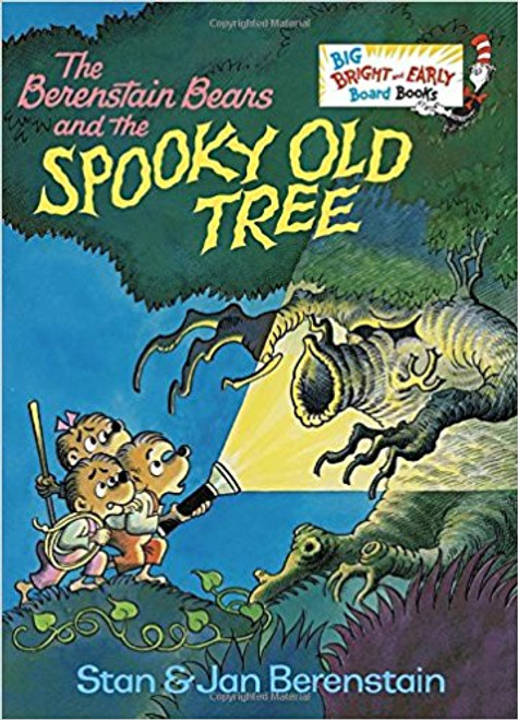 One by one, three brave little bears have second thoughts about exploring the interior of a spooky old tree.