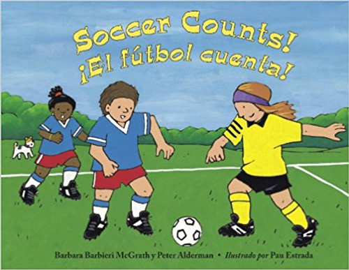 Simple rhyming text helps young readers count to fifteen, all in the context of a youth soccer game. Watch one ball, two keepers, three referees, and more add up to a great game. Bilingual Edition.