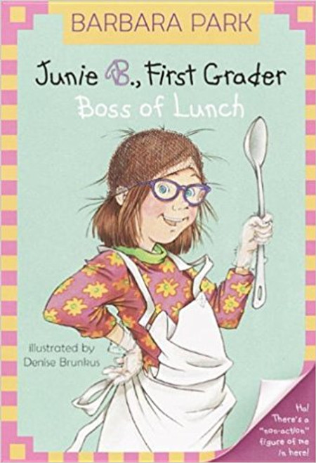 Junie's getting to be a professional lunch lady. That means she gets to hang out with Mrs. Gutzman in the cafeteria, standing behind the counter, and even wearing an actual hair net. This paperback edition includes a Junie B. standee. Illustrations. Consumable.