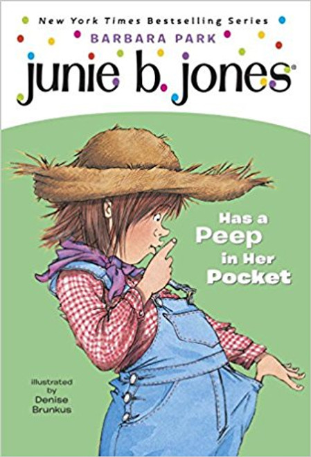 It's almost the end of the school year and Room Nine is taking a field trip to a farm, where the children can see a real barn, an actual farmer, and live animals. But Junie B. wants to know, Where's the gift shop? Surely no one would want her to go home empty-handed!