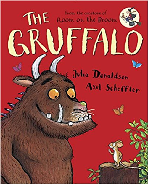 """A clever mouse uses his imagination to conjure up a vicious """"gruffalo"""" to ruin the appetites of the hungry woodland animals he meets. Full color."""
