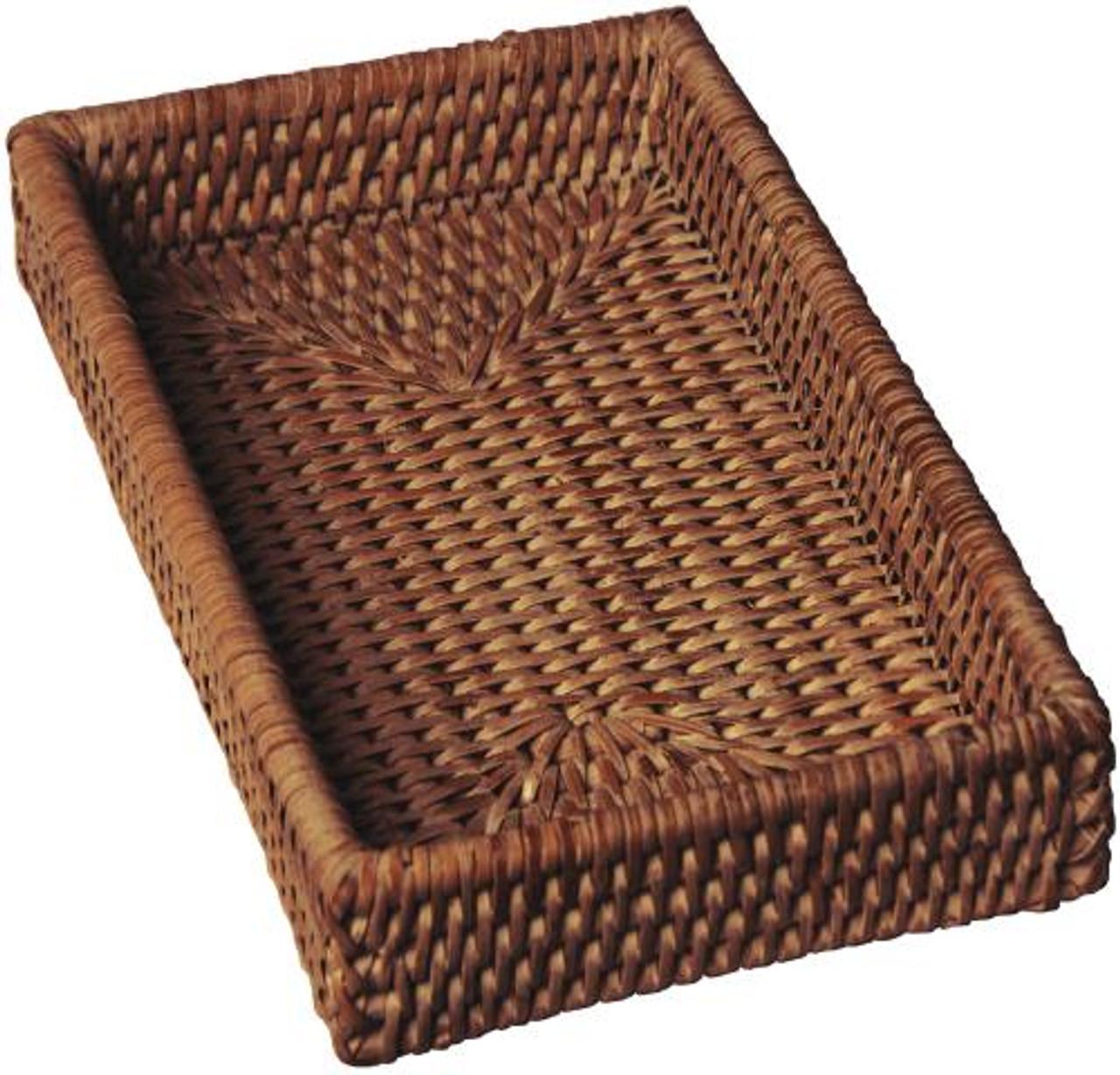 Rattan Guest Towel Napkin Holder Shop Rustic Napkin Holder