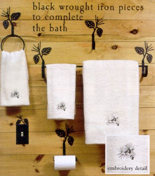 Black Wrought Iron Bathroom Accessories - options available