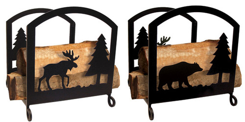Moose and Bear Wood Rack