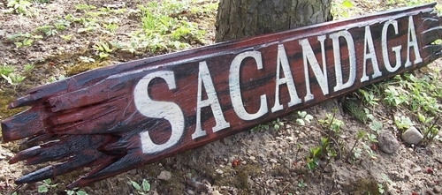 Sign, Rustic Sacandaga