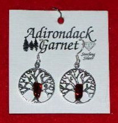Garnet Filigree Earrings
