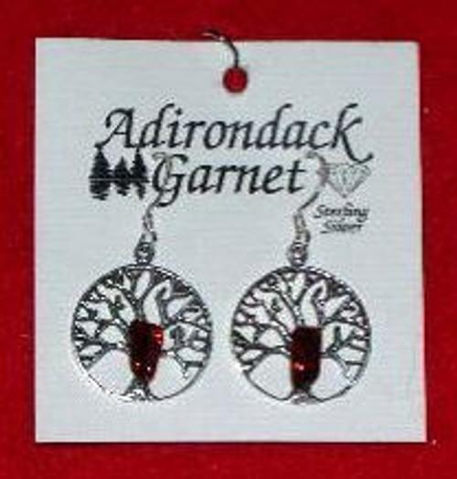Garnet Filigree Earrings