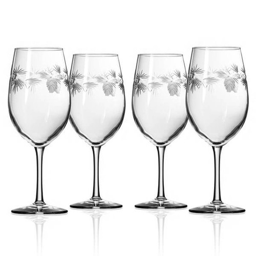 Icy Pine Wine Glass, Set of Four