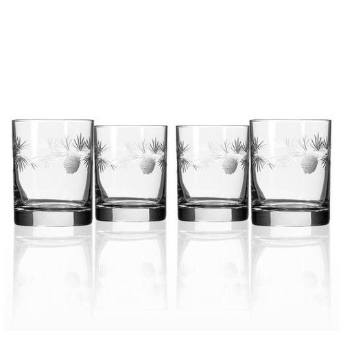 Icy Pine Double Old Fashioned, Set of Four