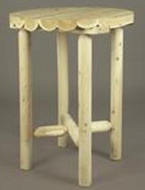 Cedar Log Bistro Table