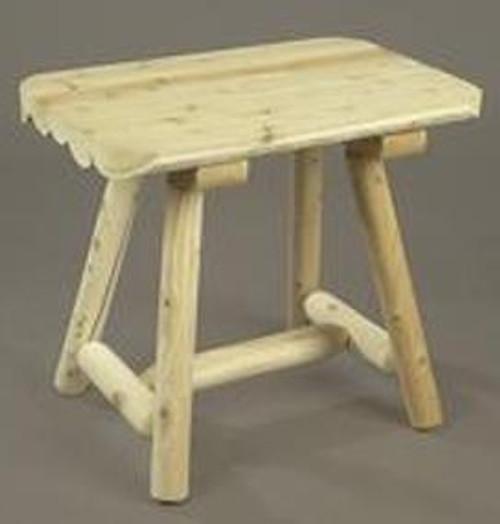 Cedar Log End Table