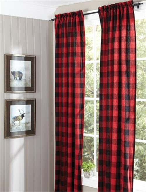 Buffalo Check Lined Curtains