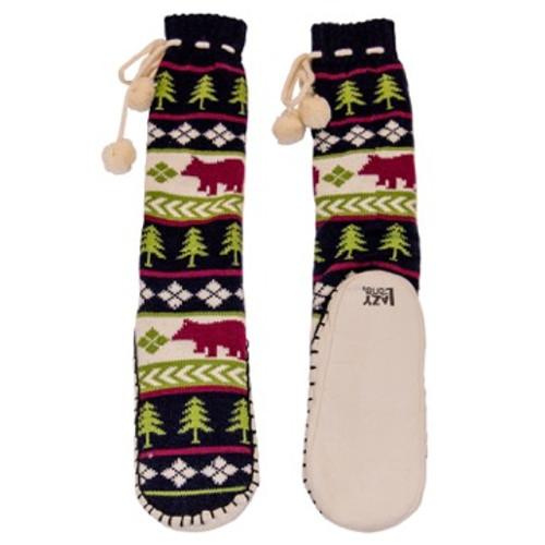 Bear Fair Isle Mukluk Slippers