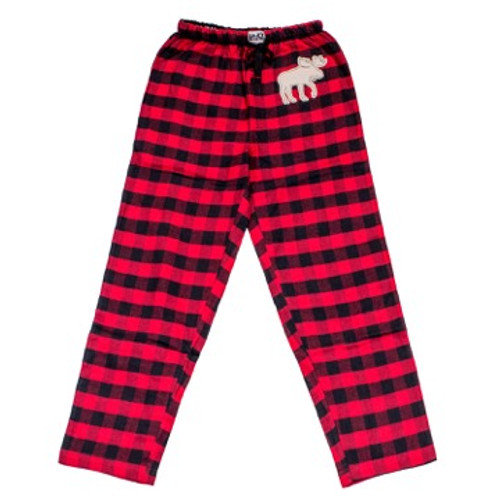 Buffalo Check Flannel PJ pants with Moose