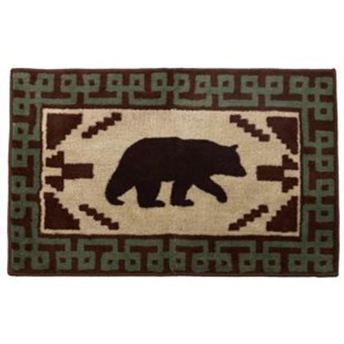 Bear Rug with Green Border