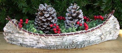 Birch Bark Canoe Centerpiece