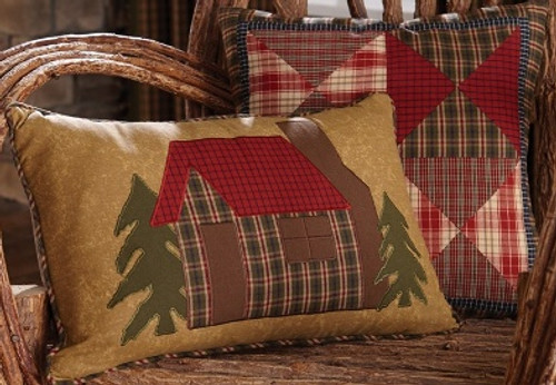 Cabin Design Throw Pillows - options available